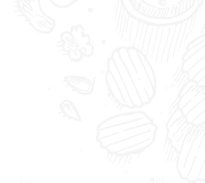 Author left drawn food background image